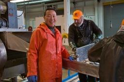 SHA board member, Ken Yoshikawa helping out at the 2015 Fishermen Helping Kids With Cancer Herring Sale